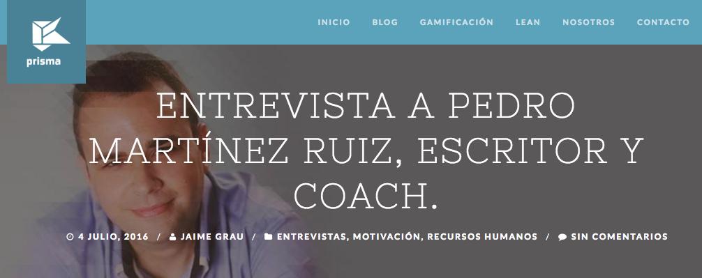 Entrevista en Prisma